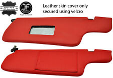 RED REAL LEATHER 2X SUN VISORS COVERS FITS NISSAN 300ZX Z31 1984-1989