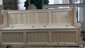 6ft church pew monks bench settle with storage COURIER AVAILABLE
