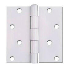 """Cosmas White Door Hinges 4"""" Inch with Square Corners 52-1096"""