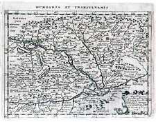 Antique map, Hungaria et Transylvania