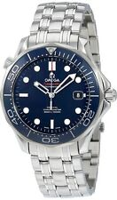 212.30.41.20.03.001 Omega Seamaster Mens Auto Watch Blue Dial SS Bracelet 41mm