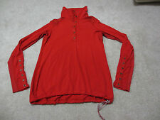 """Lululemon Power Pedal Longsleeve- (18"""" pit to pit)- EUC- currant red"""