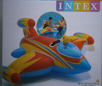 Aufblasbares Flugzeug + Wasserpistole*Intex*Wasserspielzeug*1.47 m x 1.27 m*Neu