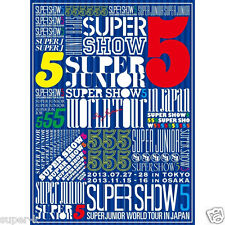 "SUPER JUNIOR WORLD TOUR ""SUPER SHOW5"" LIVE in JAPAN First Limited Edition 3DVD"