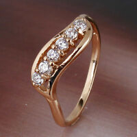 Attractive!18k gold filled white sapphire  MODISH style LATEST ring SzJ-SzR