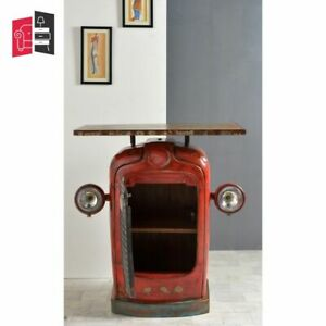 Made to Order Indian Inspired Transport Wooden And Tractor Console Table