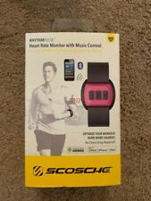 Genuine Scosche RhythmPulse Heart Rate Monitor with Music Control RTHMA1.5 pink