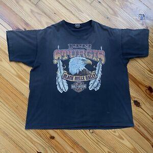 Vintage '93 Harley Davidson Sturgis Black Hills Rally T-Shirt Tag Size:XL -#1190