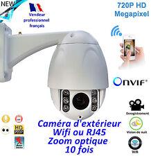 Caméra de surveillance motorisée- Wifi extérieure - Etanche  - Zoom 10 x