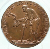 1796 ENGLAND Gloucestershire Badminton Conder SCALES 1/2 Penny PCGS Coin i83995