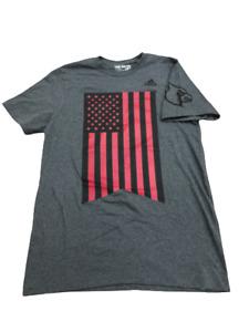 Adidas NCAA Louisville Cardinals 'American Flag' Tee Gray/Red/Black b289
