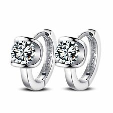 Fashion Girls Rhinestone Gift Silver Plated Earrings Crystal Ear Stud