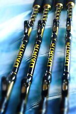 "OKIAYA COMPOSIT 160-200LB ""THE BIG NASTY"" SALTWATER BIG GAME ROLLER ROD SET of 4"