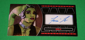 STAR WARS TOPPS RETURN OF THE JEDI 3D WIDEVISION OOLA AUTOGRAPH CARD