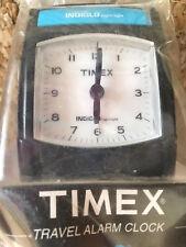 "Timex Travel Alarm Clock w Indiglo Night Light * Snooze * Runs on 1 ""AA"" Battery"