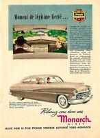 1950 FORD MONARCH AUTOMOBILE ORIGINAL AD IN FRENCH