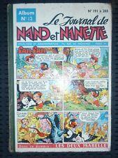 Le Journal de Nano et Nanette Album N°12 (N°s 191 à 203)