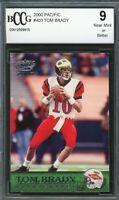 2000 Pacific #403 Tom Brady Rookie Card BGS BCCG 9 Near Mint+