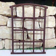 412A ancien fenêtre d'écurie FONTE eisenfenster mur de pierre miroir