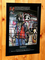 2001 The Bouncer Video game Rare Small Poster / Vintage Ad Page Framed PS2
