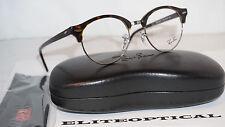 RAY BAN RX Eyeglasses New CLUBROUND OPTIC Dark Havana/Clr RX4246V 2012 49 140