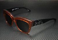 COACH HC8213 547187 Amber Saddle Glitter Dk Grey Solid 56 mm Women's Sunglasses