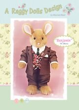 BENJAMIN RABBIT - Sewing Craft PATTERN - Cloth Rag Doll Bunny Bunnies