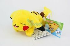 Takara Tomy Pokemon Pikachu 15cm Plush Doll on Shoulder Beanie Toy nap version