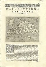 Antique maps, Spagnuola [Porcacchi, 1576]