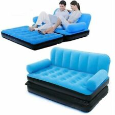 Shoppingshort Velvet 5 in 1 Sofa Cum Bed Inflatable Air Sofa Cum Bed with Pump