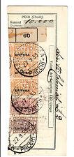 ERITREA-Pacchi postali(9+18+tre 29)-Ricevuta Bollettino da Massaua 27.9.1933