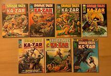 MARVEL SAVAGE TALES KA-ZAR 7 comic magazine LOT 6 7 8 9 10 11 Super Special 1