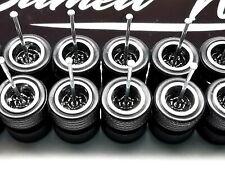 10 set Samed Wheels 5 bolt black chrome ring for 1:64 model cars HW #45