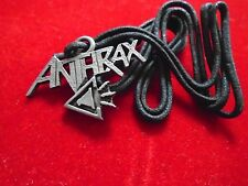 Anthrax / Cool black cord Jewelry Necklace / New condition / 7/8 x 1 5/8""