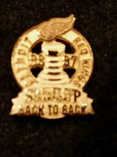 1998 Back to Back Stanley Cup Red Wings Pin Back