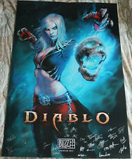 Blizzcon 2017 Official Diablo 3 III Signed Poster