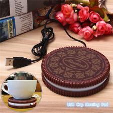 USB Chauffe Tasse Electronique Lait Café Thé Boisson Mug Warmer Plateau Bureau