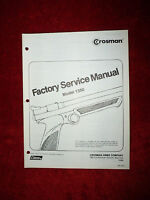Crosman 1300 Service Manual With Exploded View & Parts List