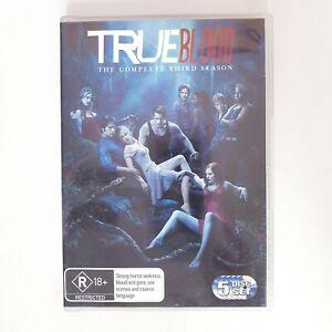 True Blood Season 3 TV Series DVD Region 4 AUS - 5 x Disc Set