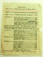 Original 1916 California Diner Dailey Menu Sept.12-1916