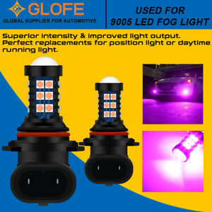 2x 30SMD 9145 9140 H10 LED Fog Driving Light Bulbs Super Bright Pink Purple Lamp