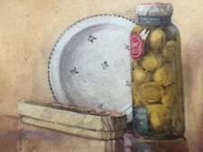 Antique Water Colour Painting Still Life Circa 1920's