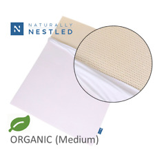 Certified Organic 100% Natural Latex Mattress Topper with Cover - Medium