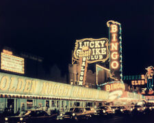 1957 LUCKY STRIKE CLUB Las Vegas Glossy 8x10 Photo Casino Print Downtown Poster
