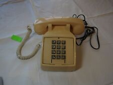 ITT vintage phone 183499-103 2500 MBA home telephone RJ11C corded WORKS yellow ~