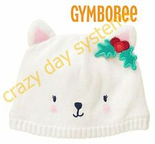 Gymboree NEW Baby Snow White Snow Kitty Beanie Hat Knit 12/24 Months Baby Girl