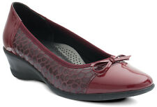Ladies Padders Jenny Wine Slip on Shoes EU 41 Fitting EE