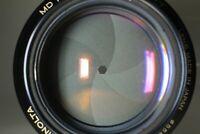 RARE Late Model{NEAR MINT} MINOLTA MD Rokkor 85mm f1.7 Portrait Lens JAPAN #817K