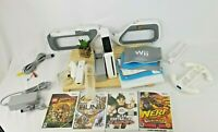 Nintendo Wii Console RVL-001 & Power Adapter, Wiimote, Games ,Tested And Working