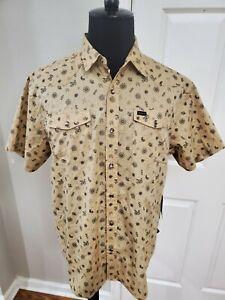NWT Howler Bros Button Down Pearl Snapshirt Bandito Print Size Large